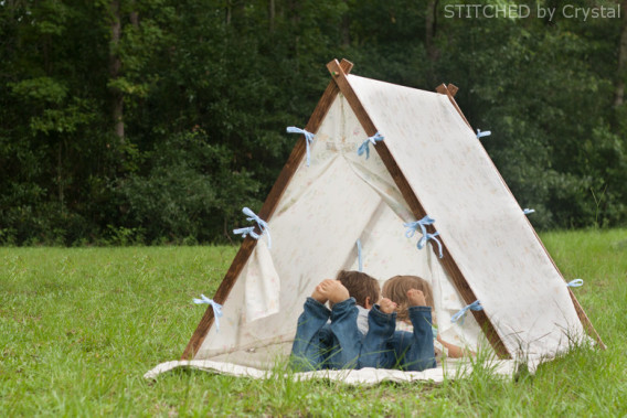 Collapsible Play Tent - DIY Sewing for Boys