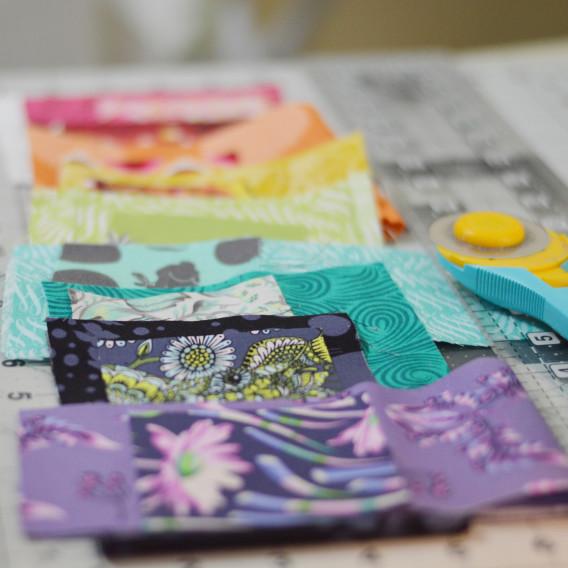Tula Pink Mini Quilt - Fabrics