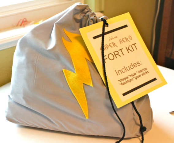 DIY Super Hero Fort Kit - Sewing for Boys