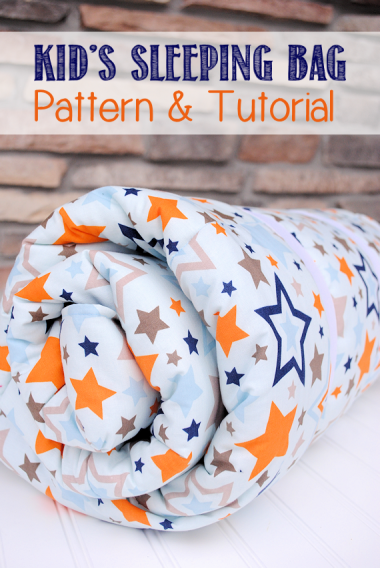 Kid Sleeping Bag - Sewing for Boys