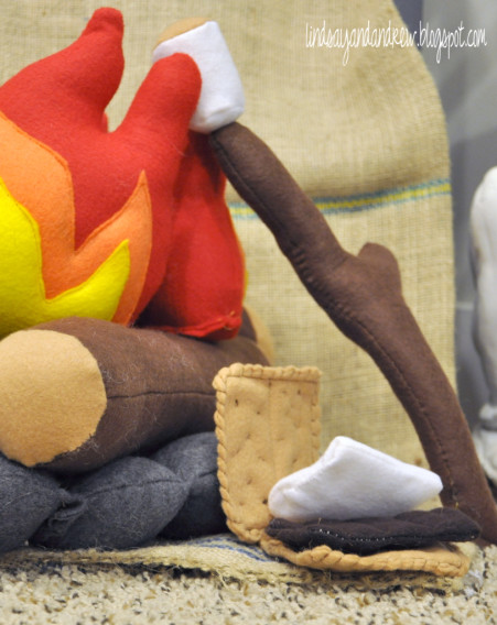 Toy Campfire - Sewing for Boys